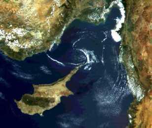 Foto satelital de Chipre