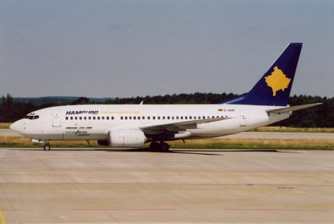 Boeing 737 de Kosova Airlines