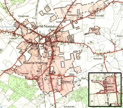 Mapa de Baarle Hertog y Baarle Nassau (Click para ampliar)