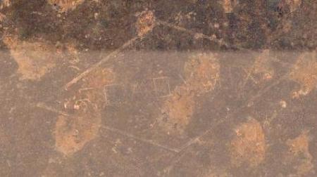 Logotipo de Readymix en el desierto australiano