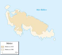 Extensión de Märket en 1810 y 1980 (click para ampliar)