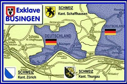Mapa de Büsingen