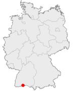 Localización de Büsingen en Alemania (Click para ampliar)