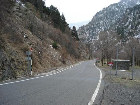 Frontera entre España y Andorra en os de Civ�s (click para ampliar)
