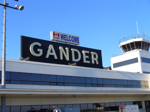 gander airport yellow ribbon