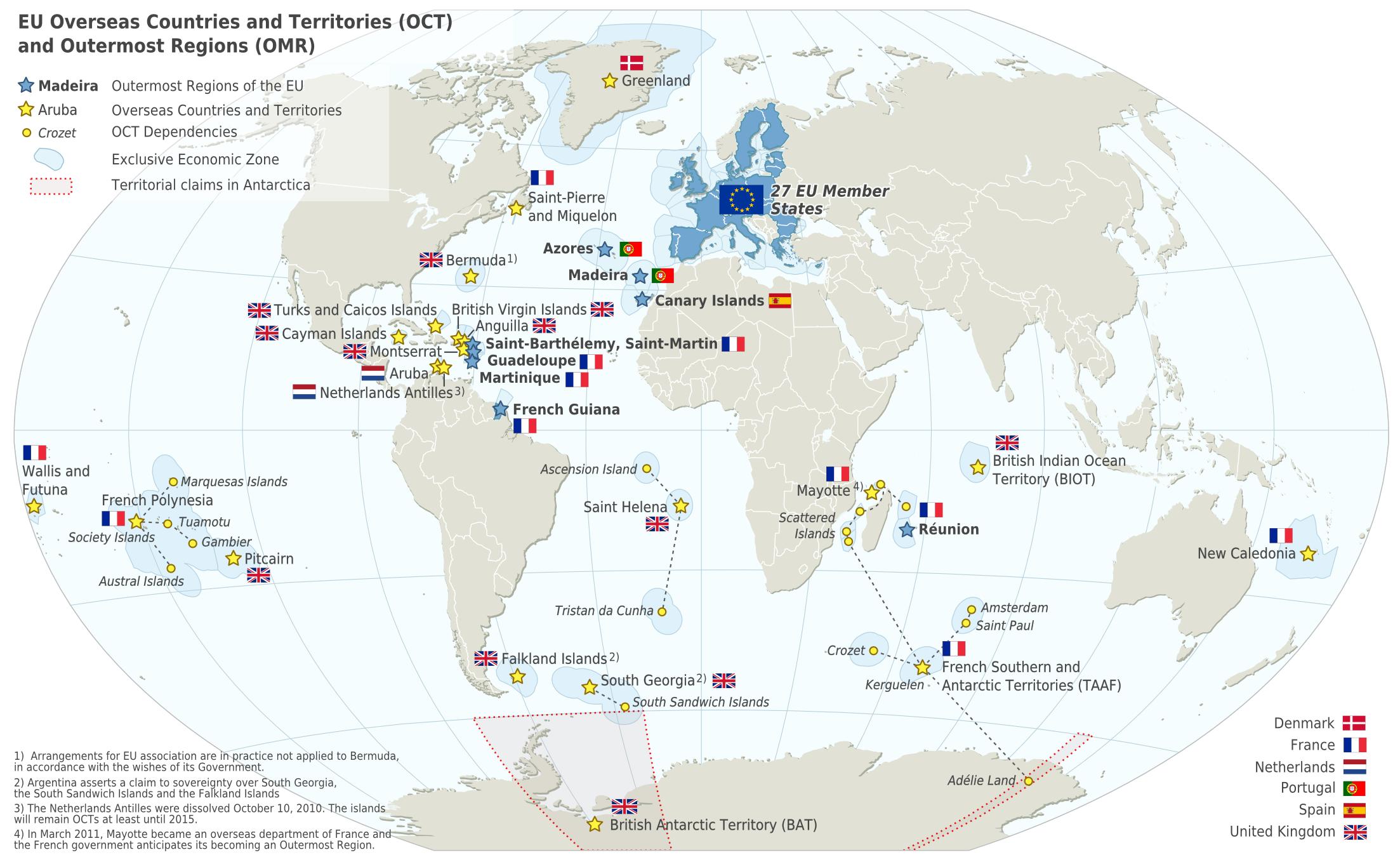 Resultado de imagen de union europea y regiones ultraperifericas