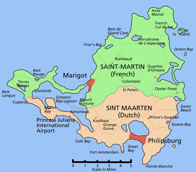 San Martn la isla dividida  Fronteras