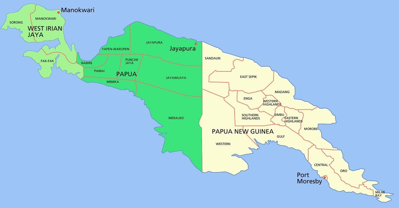 Fronteras con escuadra y cartabón: Indonesia y Papúa-Nueva Guinea ...