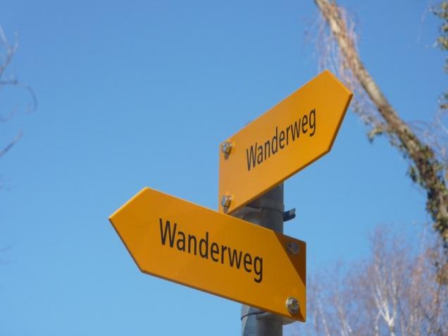 """Wanderweg significa """"Sendero"""""""