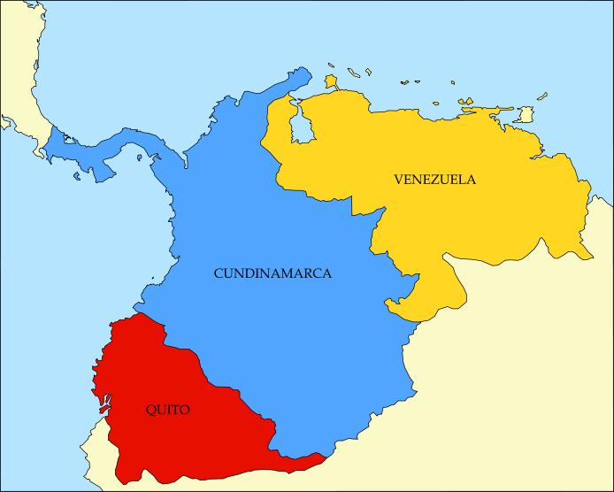 Mapa Politico de la Gran Colombia la Gran Colombia