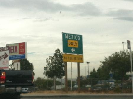 Camino a Mexico por la autopista