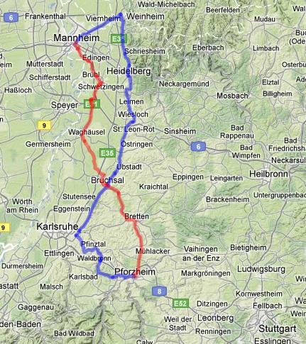 Bertha-Benz-Mapa
