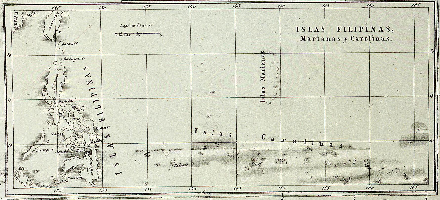 La Micronesia espaola  Fronteras