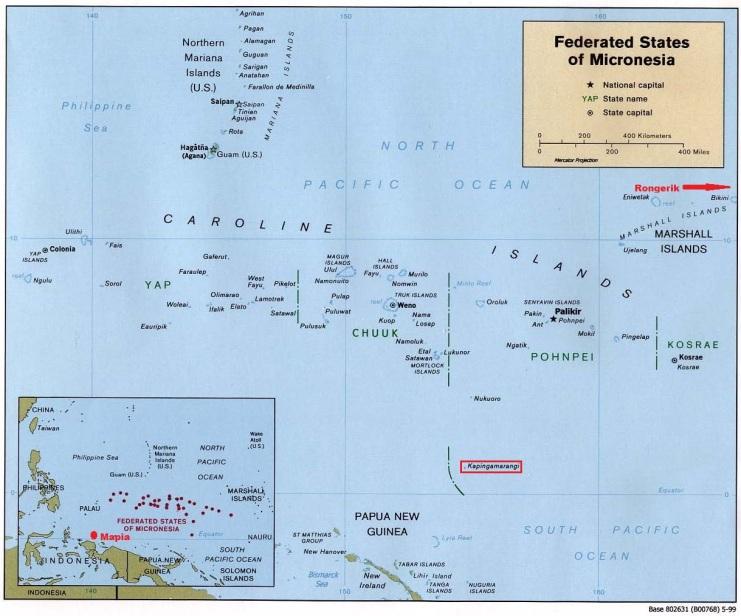 Micronesia Española Mapa
