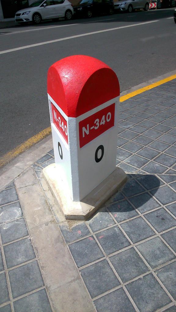 N340 Mojón Valencia Km 0