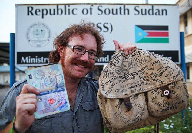 Graham Hughes al finalizar de visitar todos los países