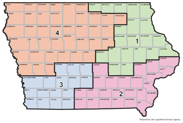 Iowa Districts