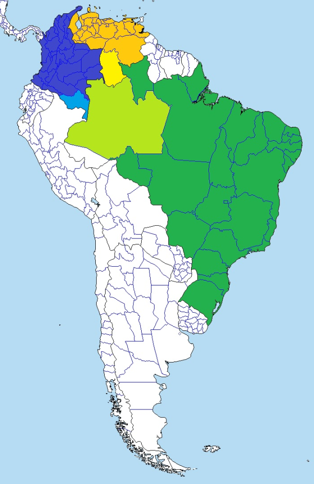 Amazonas Departments