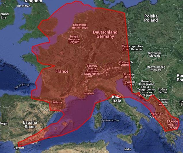 Alaska vs Europe