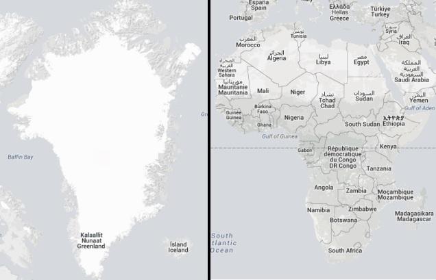 Greenland vs Africa