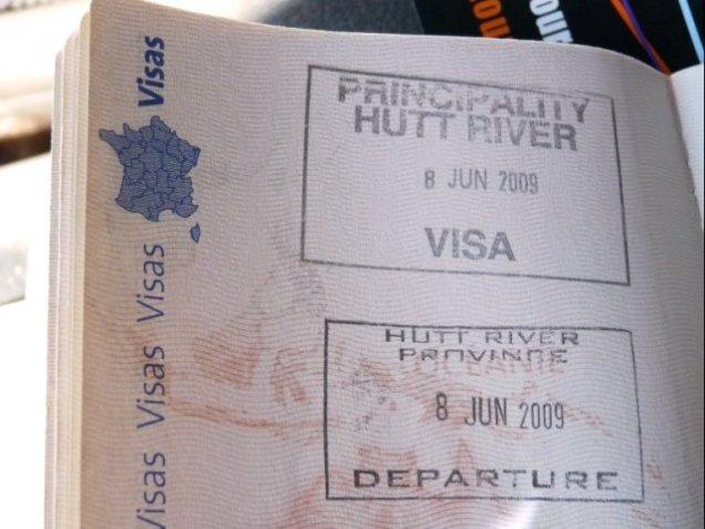 Hutt River Passport Stamp