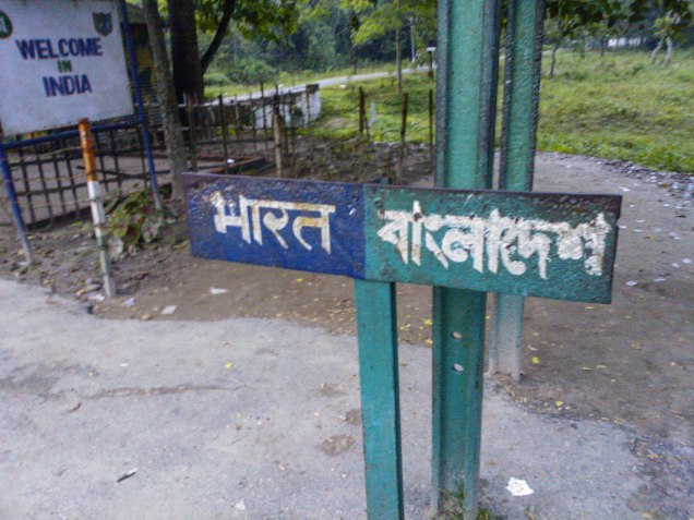 Indo-Bang border sign