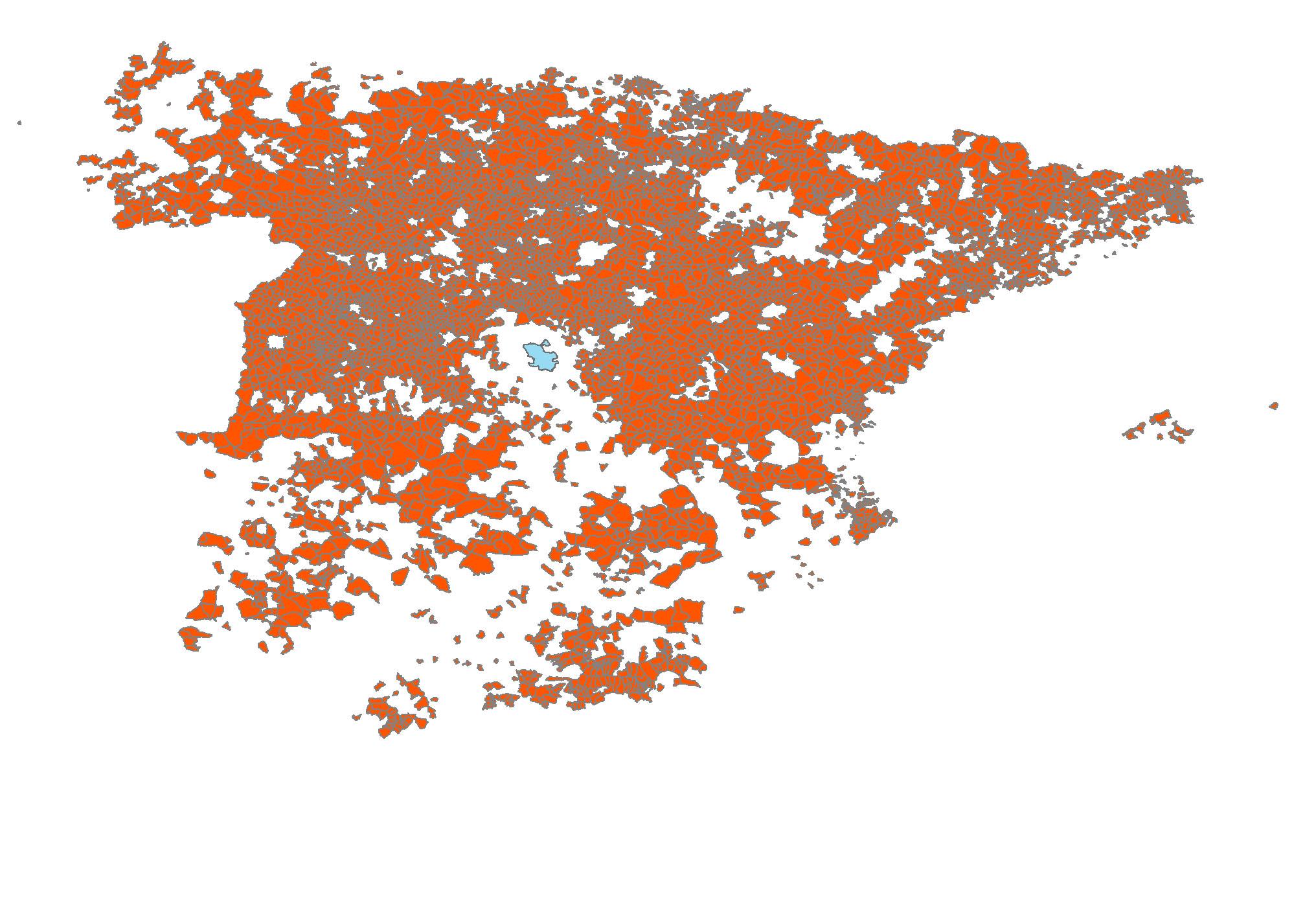 Veinte mapas sobre la distribucin de la poblacin en Espaa