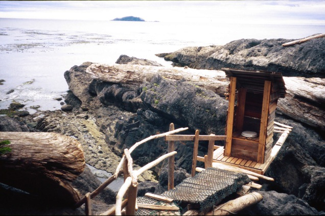 500px Photo ID: 117504389 - An outhouse with a view. Located n a remote shoreline of the Queen Charlotte Islands in British Columbia Canada. Flushes twice a day.