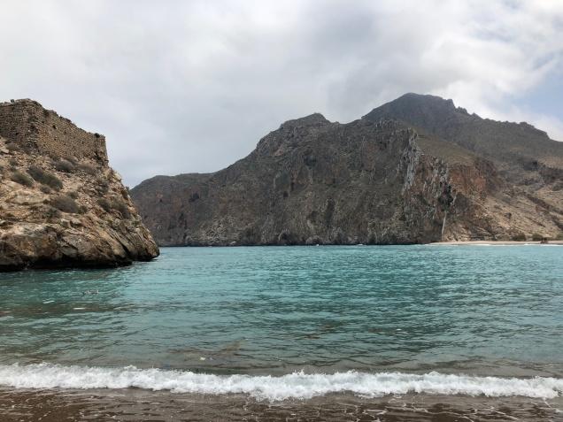 Playa junto al Peñón